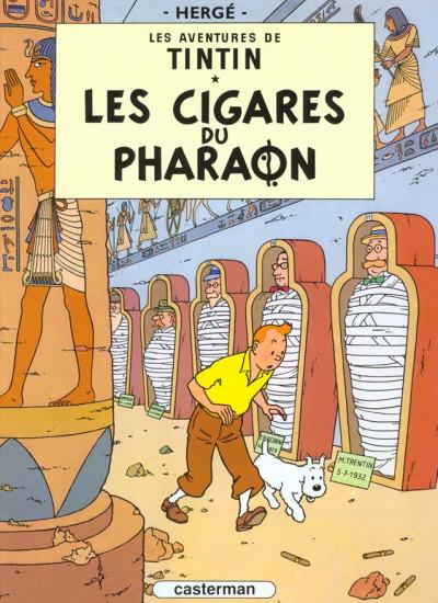 Couverture Tintin tome 4 - les cigares du pharaon