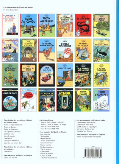 Dos Tintin tome 4 - les cigares du pharaon