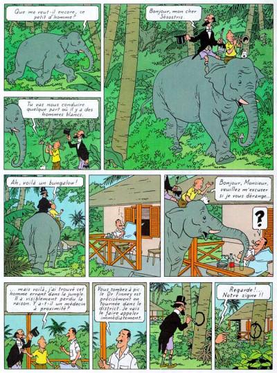 Page 1 Tintin tome 4 - les cigares du pharaon