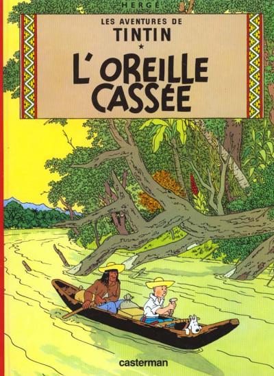 Couverture Tintin tome 6 - l'oreille cassée