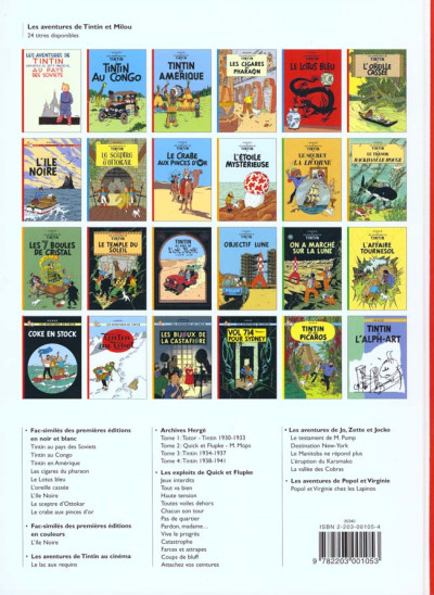 Dos Tintin tome 6 - l'oreille cassée