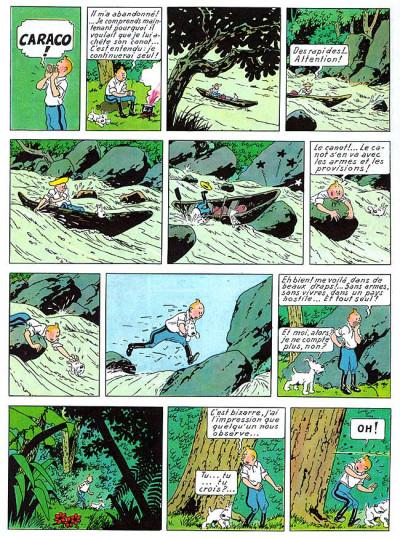 Page 1 Tintin tome 6 - l'oreille cassée