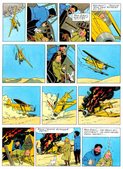 Page 1 Tintin tome 9 - le crabe aux pinces d'or