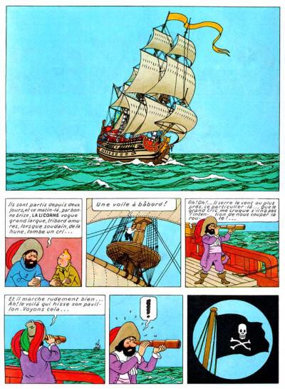 Page 1 Tintin tome 11 - le secret de la licorne