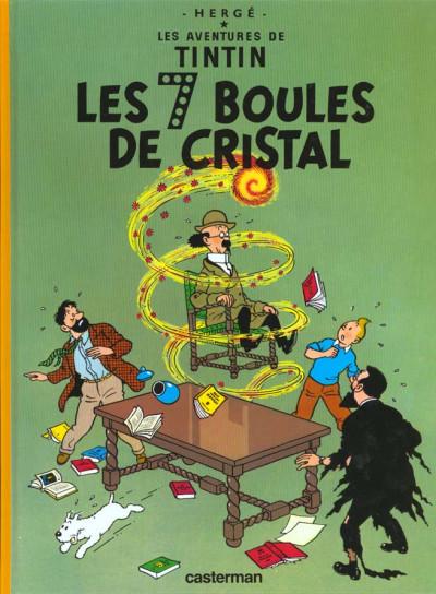Couverture Tintin tome 13 - les sept boules de cristal