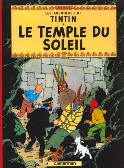 Couverture Tintin tome 14 - le temple du soleil