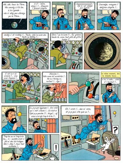Page 1 Tintin tome 17 - on a marché sur la lune