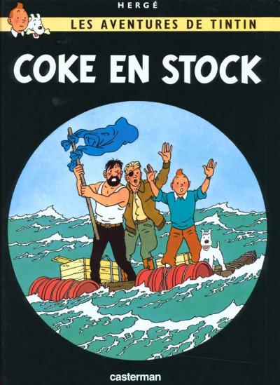 Couverture Tintin tome 19 - coke en stock