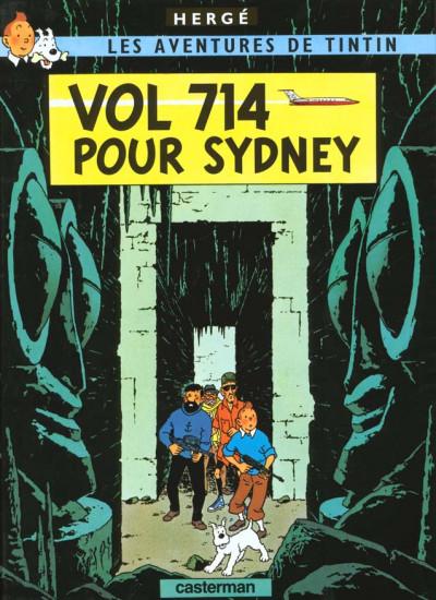 Couverture Tintin tome 22 - vol 714 pour sydney