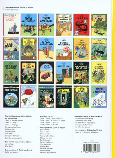 Dos Tintin tome 23 - tintin et les picaros