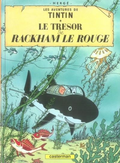 Couverture Tintin tome 12 - le trésor de rackham le rouge (petit format)