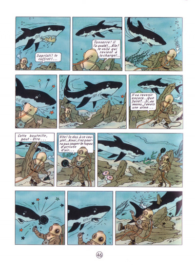 Page 1 Tintin tome 12 - le trésor de rackham le rouge (petit format)