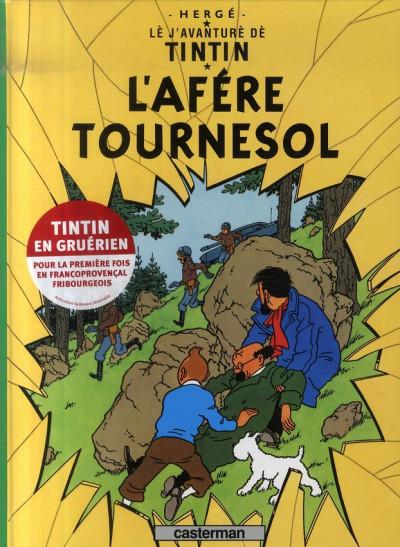 Couverture lè j'avanturè dè Tintin tome 18 - l'afére Tournesol