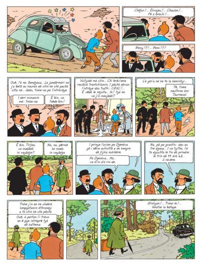 Page 1 lè j'avanturè dè Tintin tome 18 - l'afére Tournesol