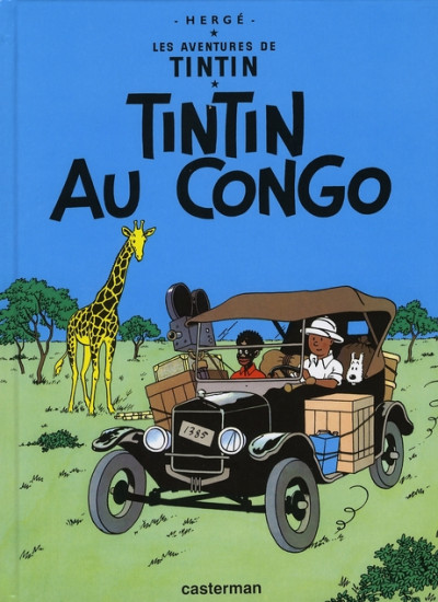 Couverture Tintin tome 2 - tintin au congo (petit format)