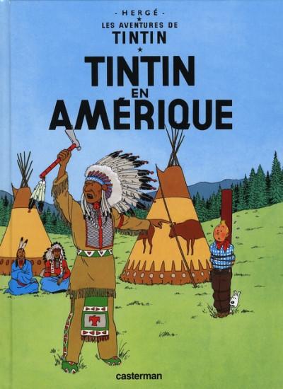Couverture Tintin tome 3 - tintin en amérique (petit format)