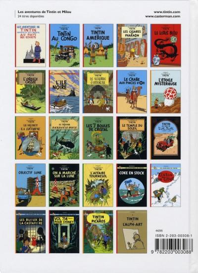 Dos Tintin tome 6 - l'oreille cassée (petit format)