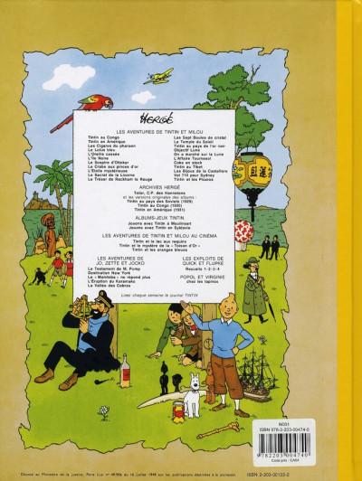 Dos Tintin tome 23 - tintin et les picaros (fac-similé couleurs 1976)