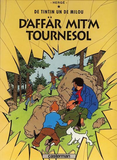 Couverture les aventures de Tintin tome 18 - d'affar mit'm tournesol