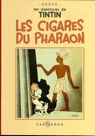 Couverture Tintin tome 4 - les cigares du pharaon (fac-similé N&B 1932-34)