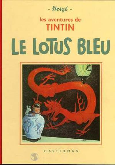 Couverture Tintin tome 5 - le lotus bleu (fac-similé N&B 1934-35)
