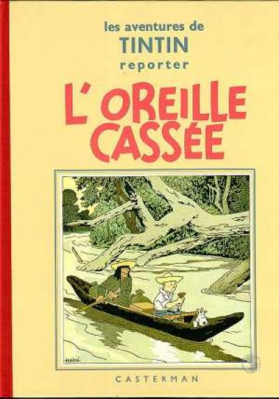 Couverture Tintin tome 6 - l'oreille cassée (fac-similé N&B 1935-37)