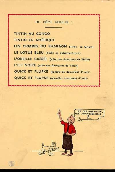 Dos Tintin tome 8 - le sceptre d'ottokar (fac-similé N&B 1938-39)