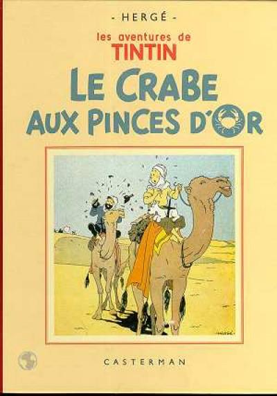 Couverture Tintin tome 9 - le crabe aux pinces d'or (fac-similé N&B 1941)