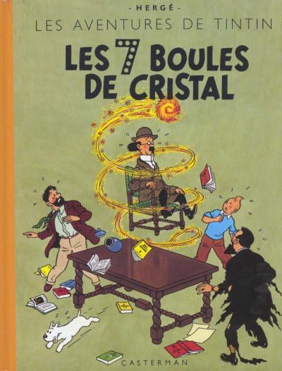 Couverture Tintin tome 13 - les sept boules de cristal (fac-similé couleurs 1948)