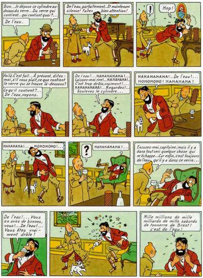 Page 1 Tintin tome 13 - les sept boules de cristal (fac-similé couleurs 1948)