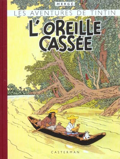 Couverture Tintin tome 6 - l'oreille cassée (fac-similé couleurs 1943)