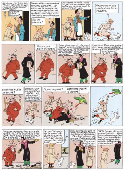Page 1 Tintin tome 6 - l'oreille cassée (fac-similé couleurs 1943)