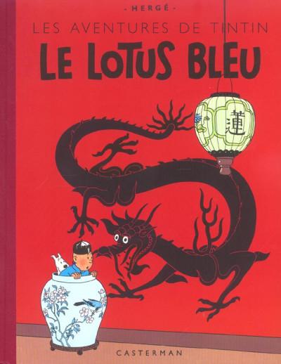 image de Tintin tome 5 - le lotus bleu (fac-similé couleurs 1946)