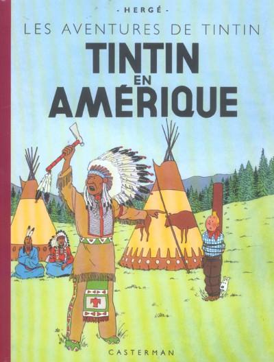 Couverture Tintin tome 3 - tintin en amérique (fac-similé couleurs 1946)