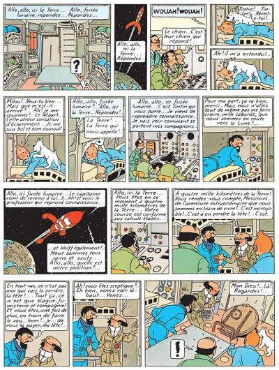 Page 1 Tintin tome 17 - on a marché sur la lune (fac-similé couleurs 1954)