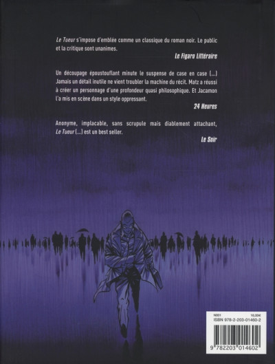 Dos Le tueur - intégrale tome 1