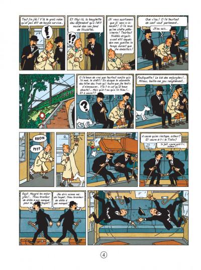 Page 4 tintin l'île noire en saintongeais - fac-similé