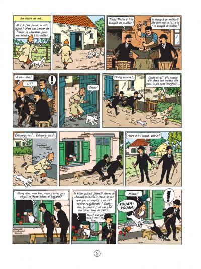Page 5 tintin l'île noire en saintongeais - fac-similé