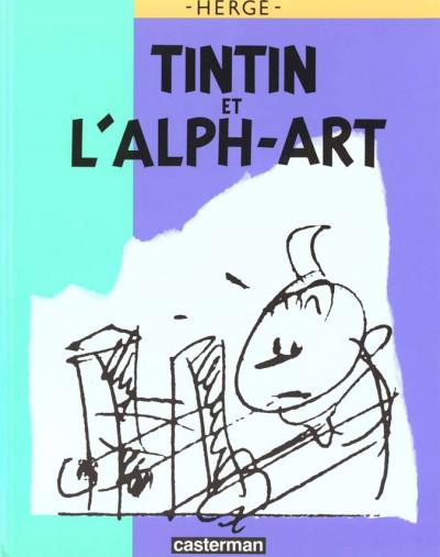 Couverture Tintin et l'alph-art