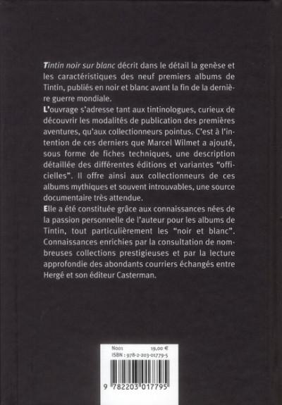 Dos Tintin noir sur blanc ; l'aventure des aventures (édition 2008)