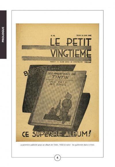 Page 1 Tintin noir sur blanc ; l'aventure des aventures (édition 2008)