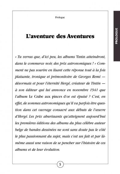 Page 2 Tintin noir sur blanc ; l'aventure des aventures (édition 2008)