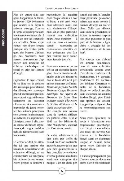 Page 3 Tintin noir sur blanc ; l'aventure des aventures (édition 2008)