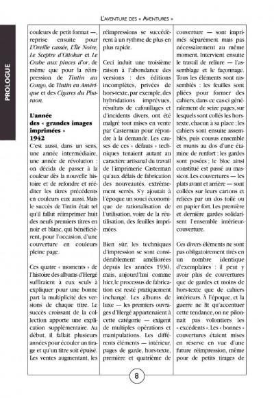 Page 5 Tintin noir sur blanc ; l'aventure des aventures (édition 2008)