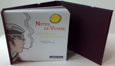 Page 1 notes de voyage ; les musiques de Corto Maltese