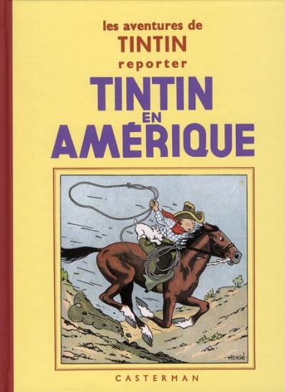Couverture Tintin tome 3 - tintin en amérique (fac-similé N&B 1931-32 - Petit format)