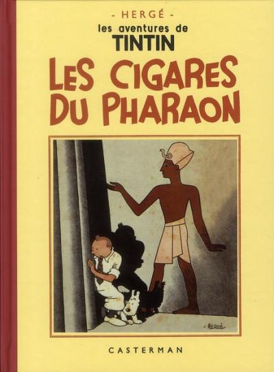 Couverture Tintin tome 4 - les cigares du pharaon (fac-similé N&B 1932-34 - Petit format)