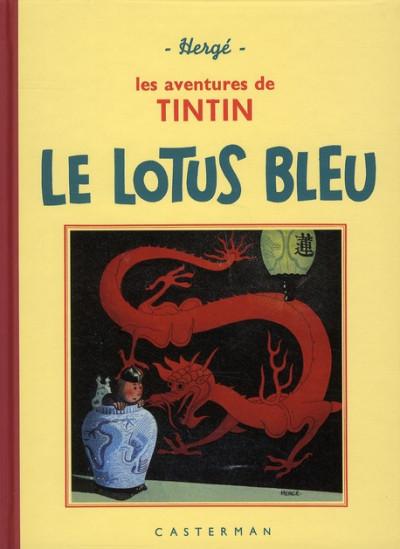 Couverture Tintin tome 5 - le lotus bleu (fac-similé N&B 1934-35 - Petit format)