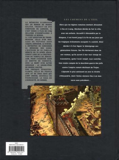 Dos la mémoire d'abraham tome 1 - les chemins de l'exil