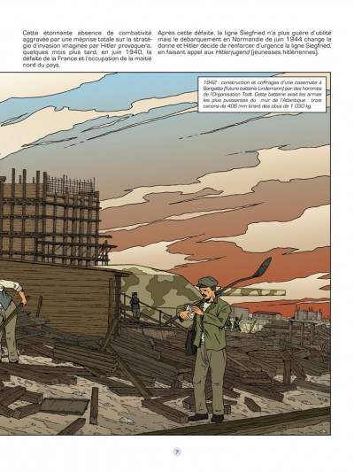Page 5 Les reportages de Lefranc - le mur de l'Atlantique
